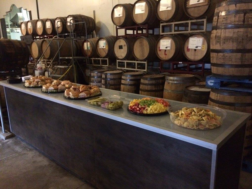 Buffet spread at our Beer Tasting Tour :)