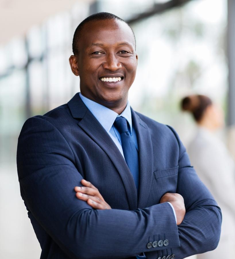Executive Man Smiling