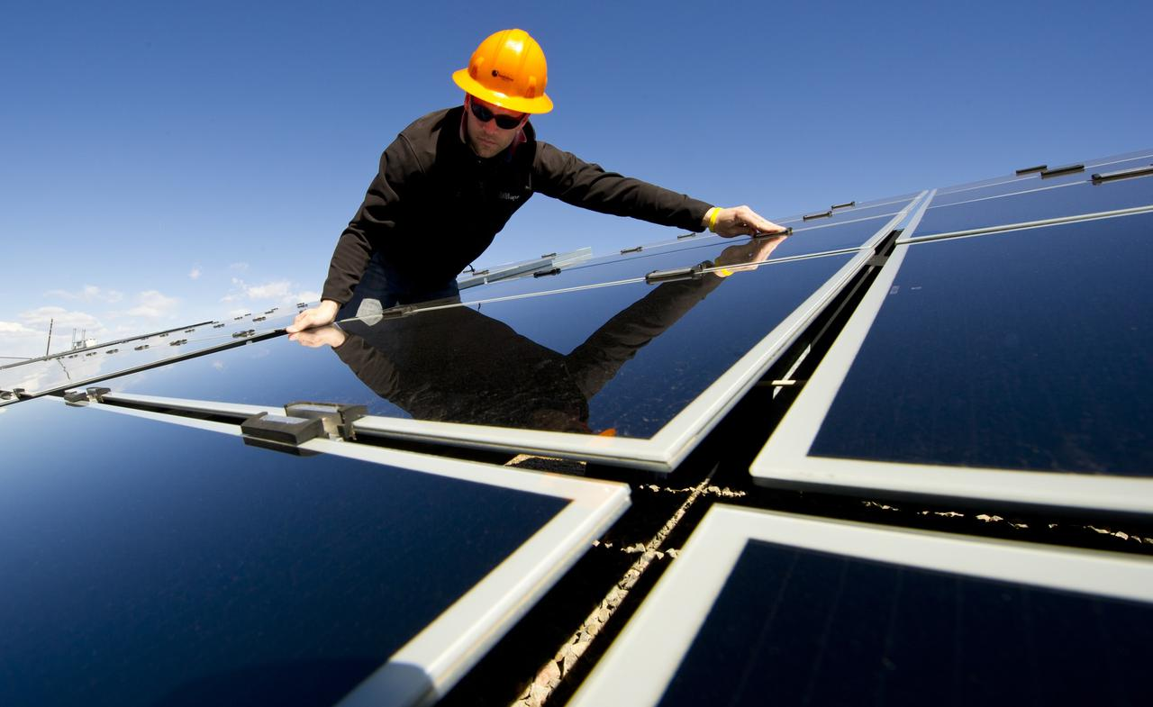 Solar Industry At Work. Steven Bohn, an engineer at SunEdison oversees SunEdison's testing facility at SolarTAC in Aurora, CO. The SolarTAC mission is to increase the efficiency of solar energy products and rapidly deploy them to the commercial market.