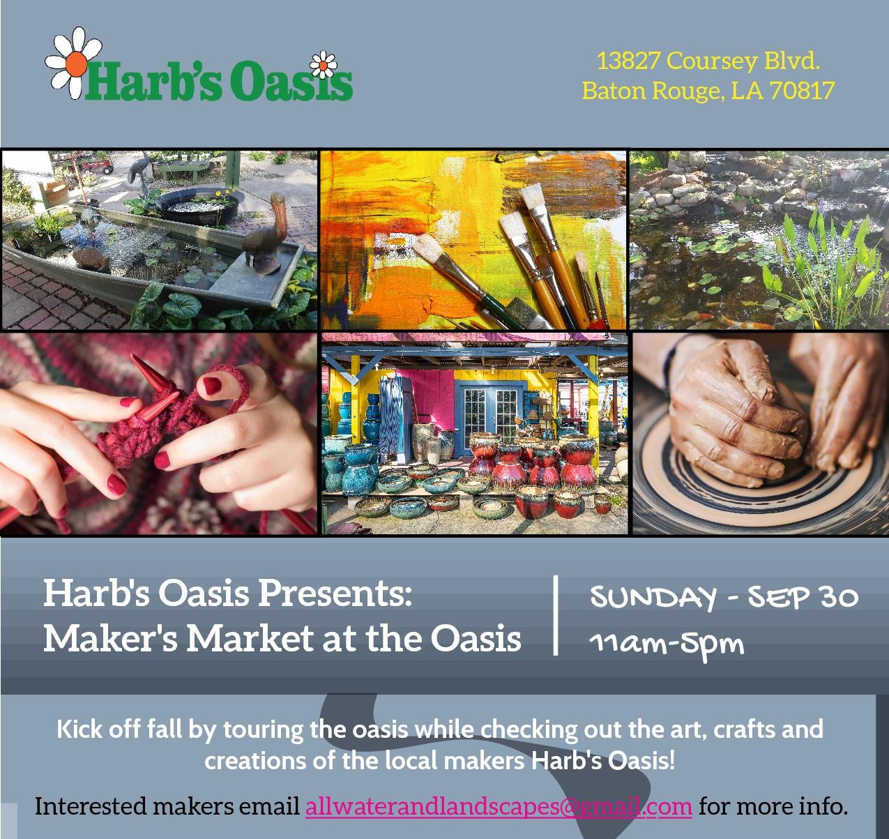 Maker's Market at the Oasis Flyer - September 2018.jpg