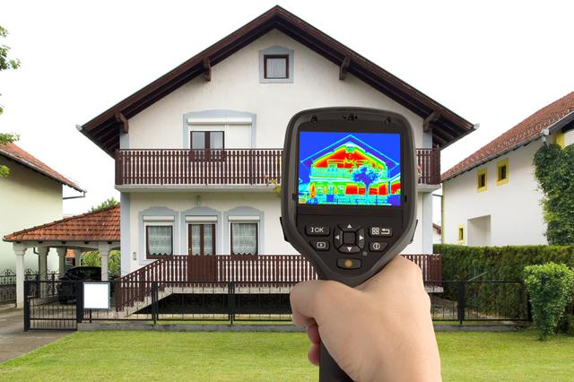 Photodune thermal image of a house inspection in St. Peters, Missouri.