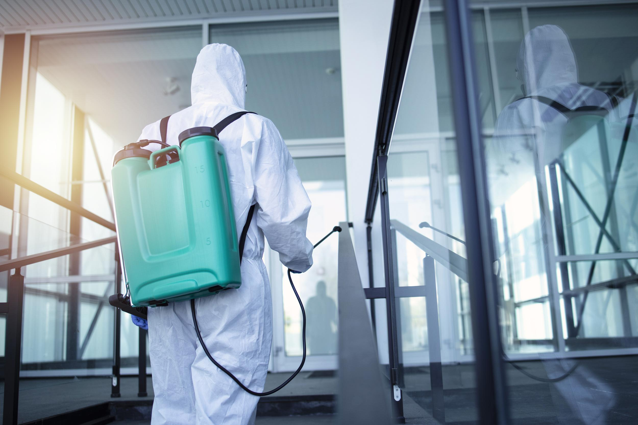 Commercial COVID-19 disinfection services.
