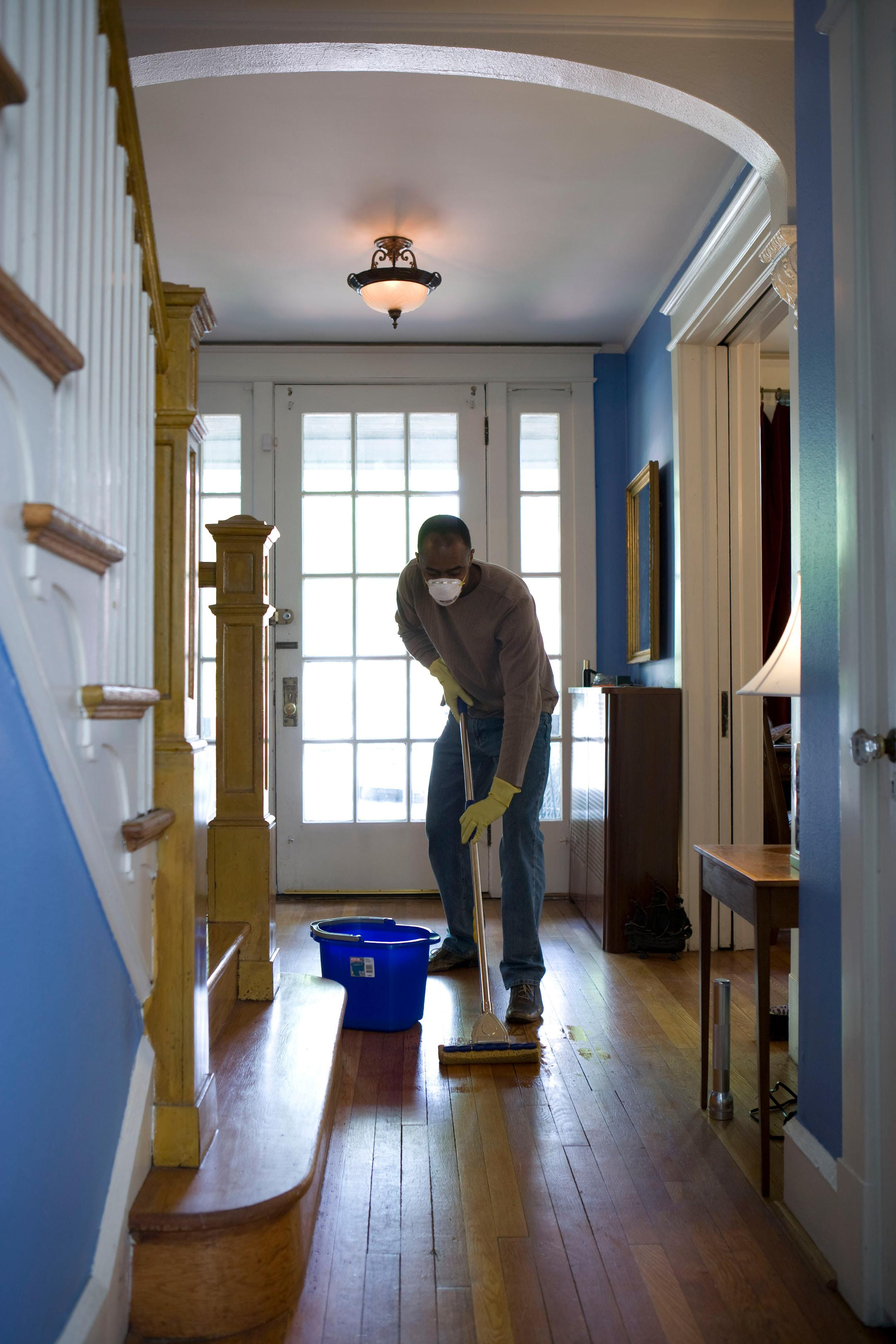 Vancouver sweeping and mopping floor cleaning services.