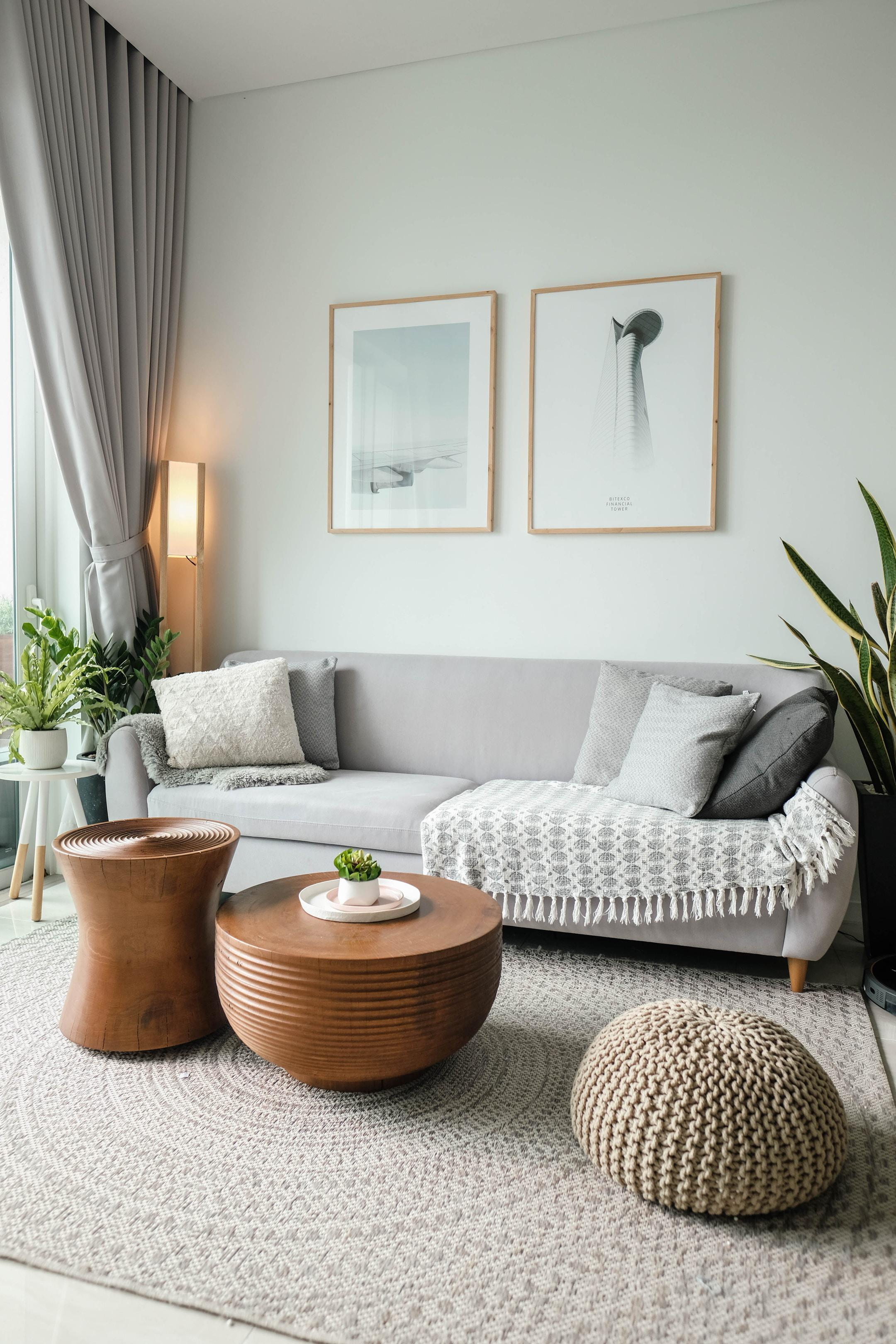 an image of a brightly lit living room