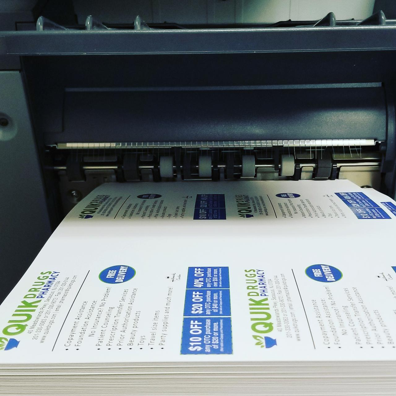 direct mailers being printed