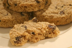 Fresh Baked Oatmeal Raisin Cookies