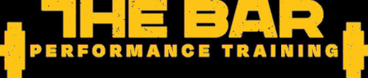 the bar performance training yellow logo