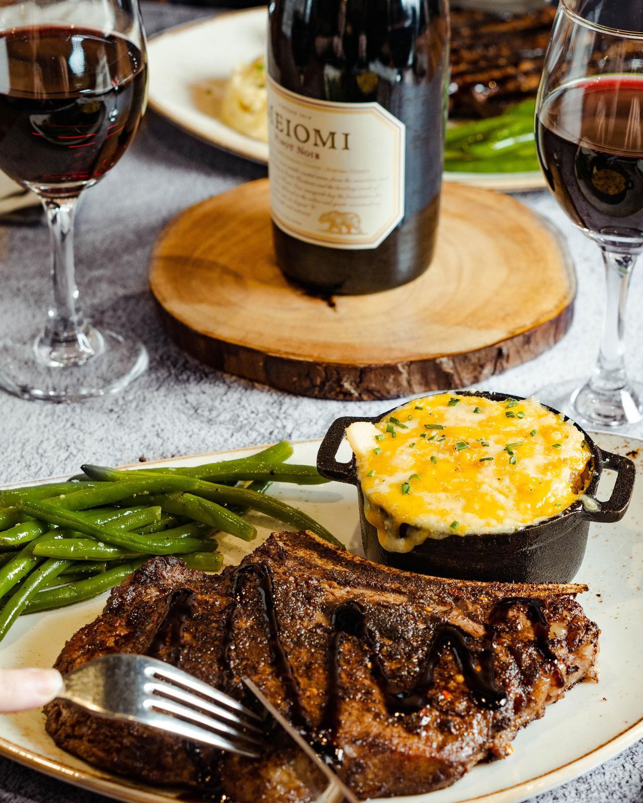 fancy steak dinner