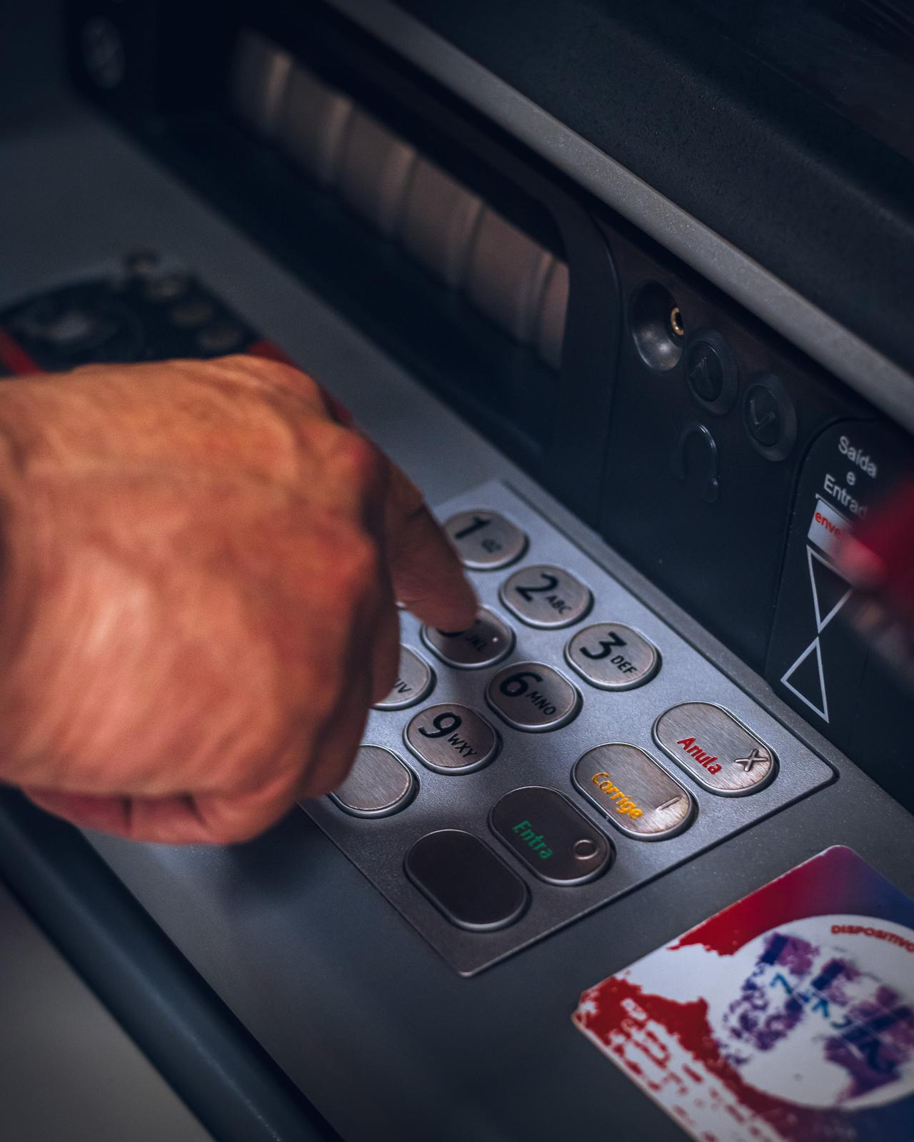 Machine working after ATM equipment repair.
