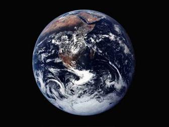 An image of earth from space.