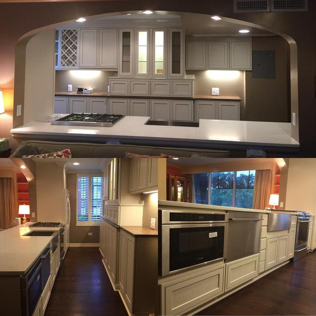 Renovated Condo Kitchen wired by Ewing Electric Company! Call us