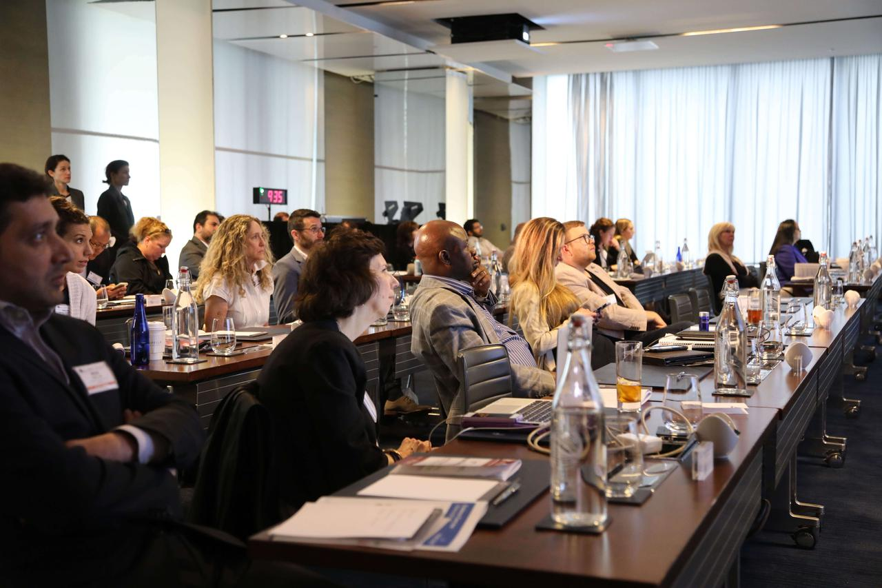 A riveted audience in attendance at a wound care conference in 2021.