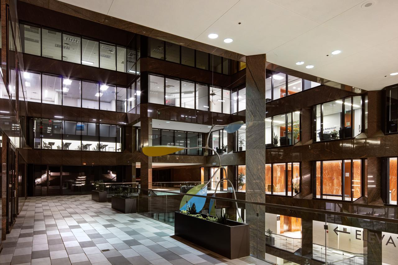 inside an office complex in camelback corridor