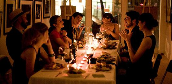 private dinner party social gathering