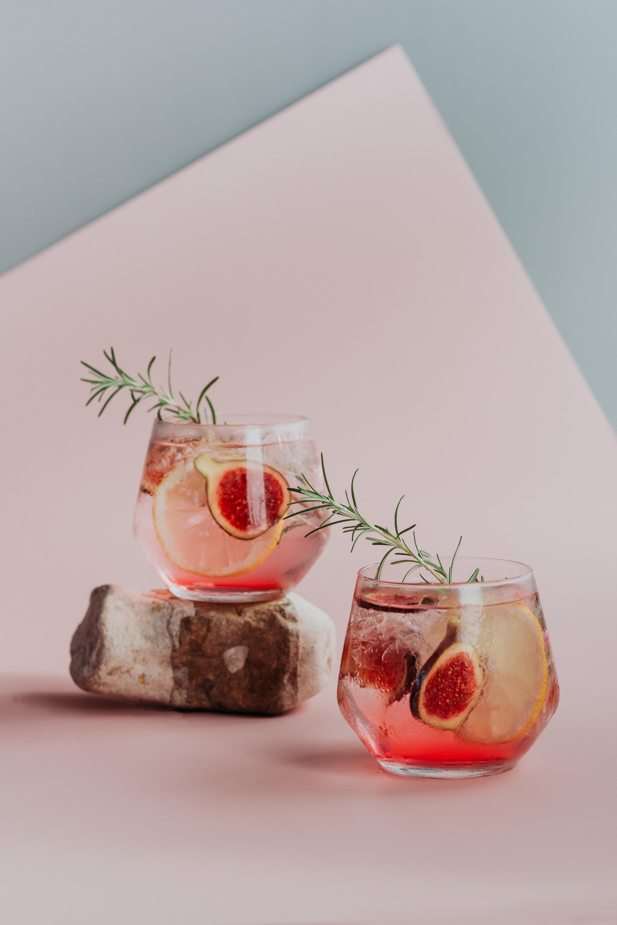 Fig Thyme Shrub Cocktail.