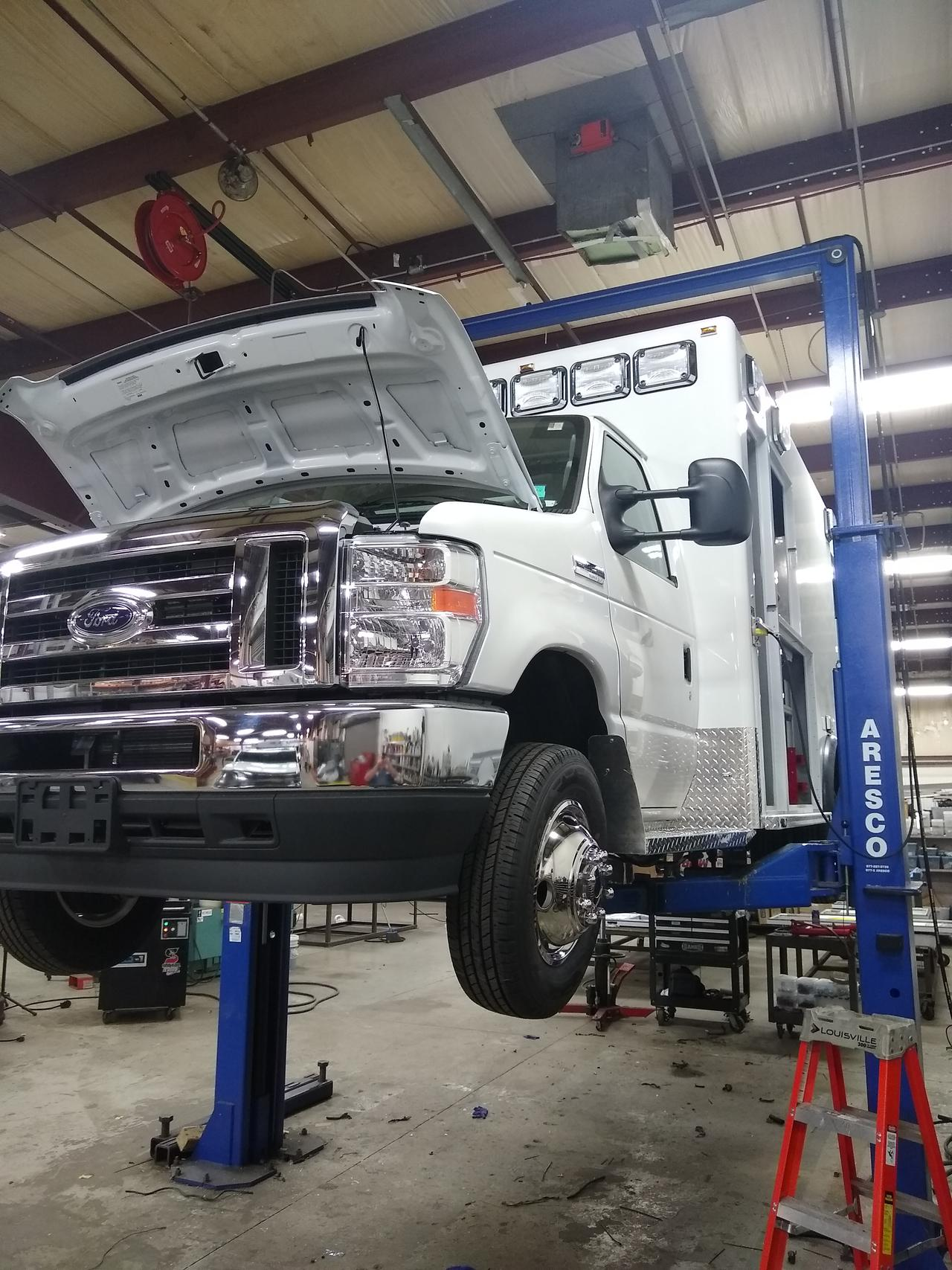 Re-chassis in Saginaw, MI from Mercy Sales and Service.