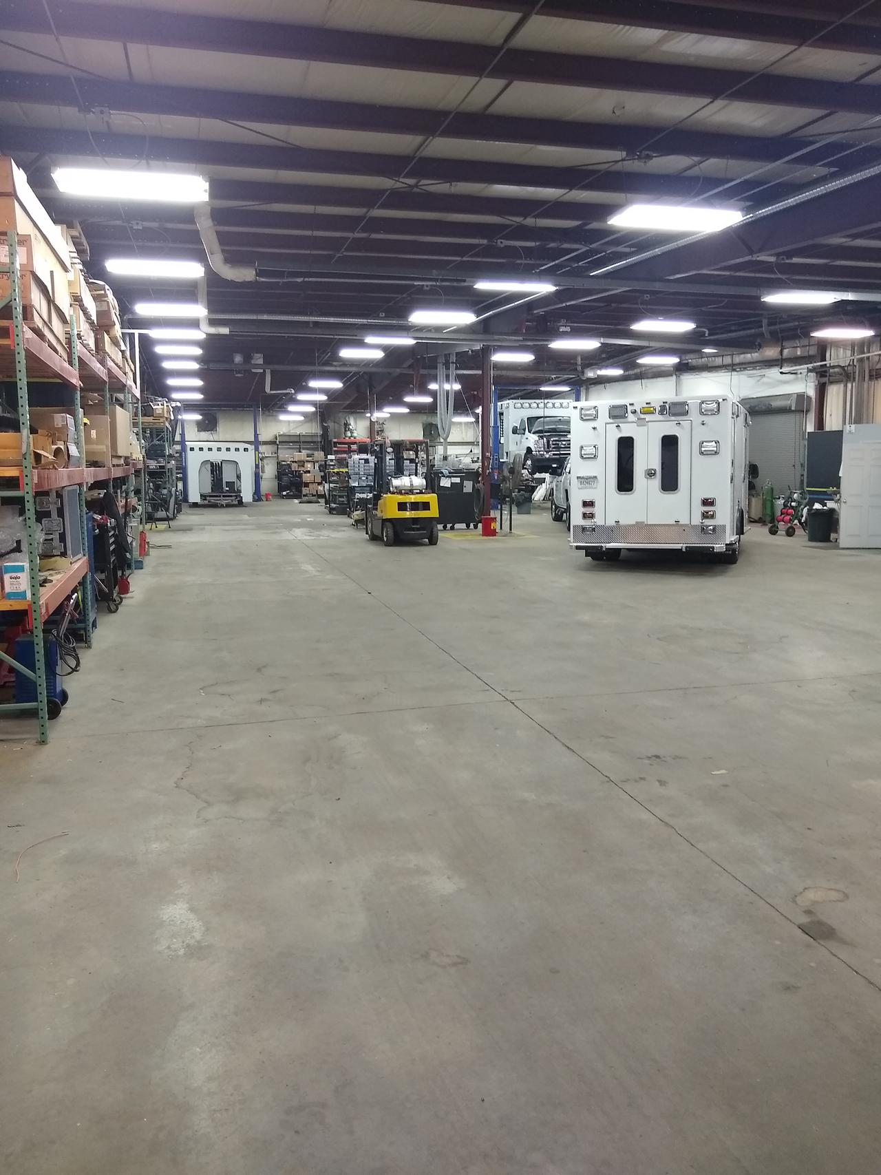 Shop at Mercy Sales and Service for ambulance re-chassis.