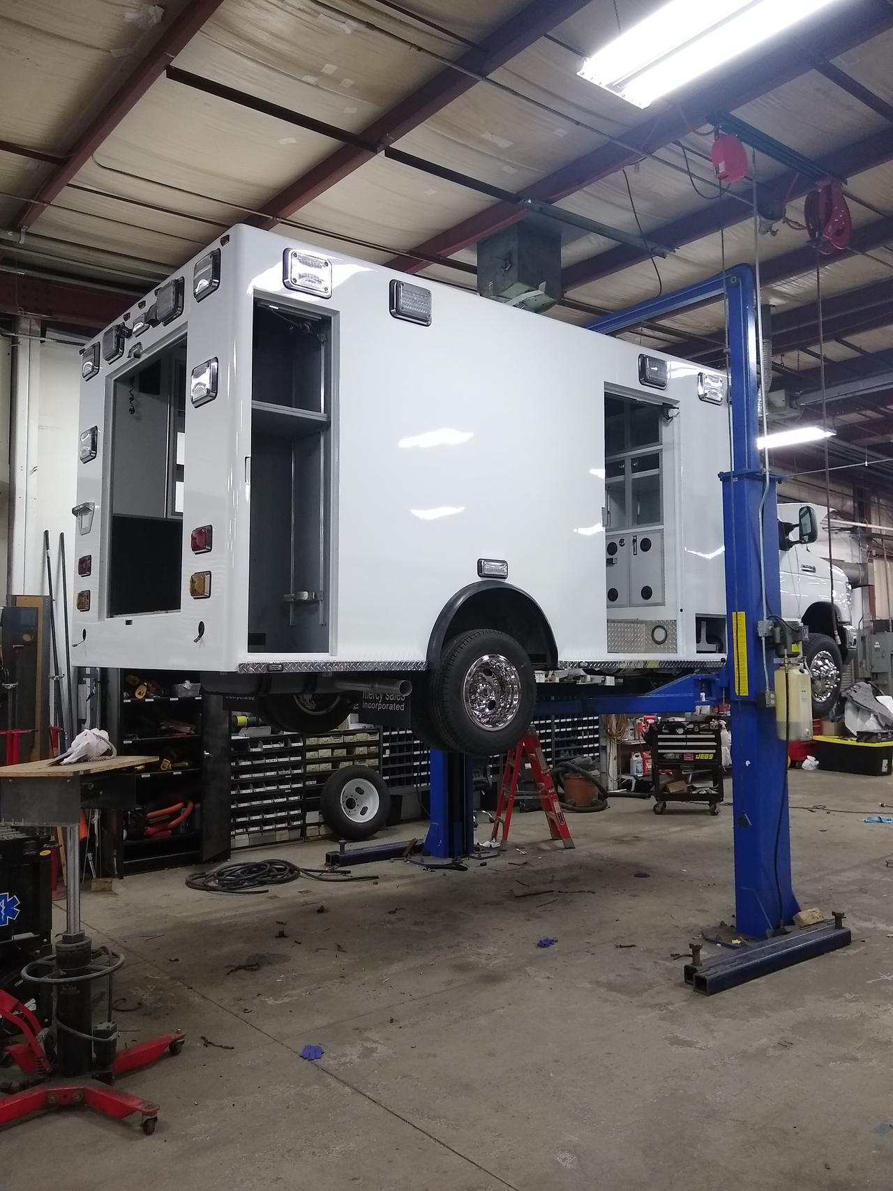 Michigan ambulance re-chassis service.