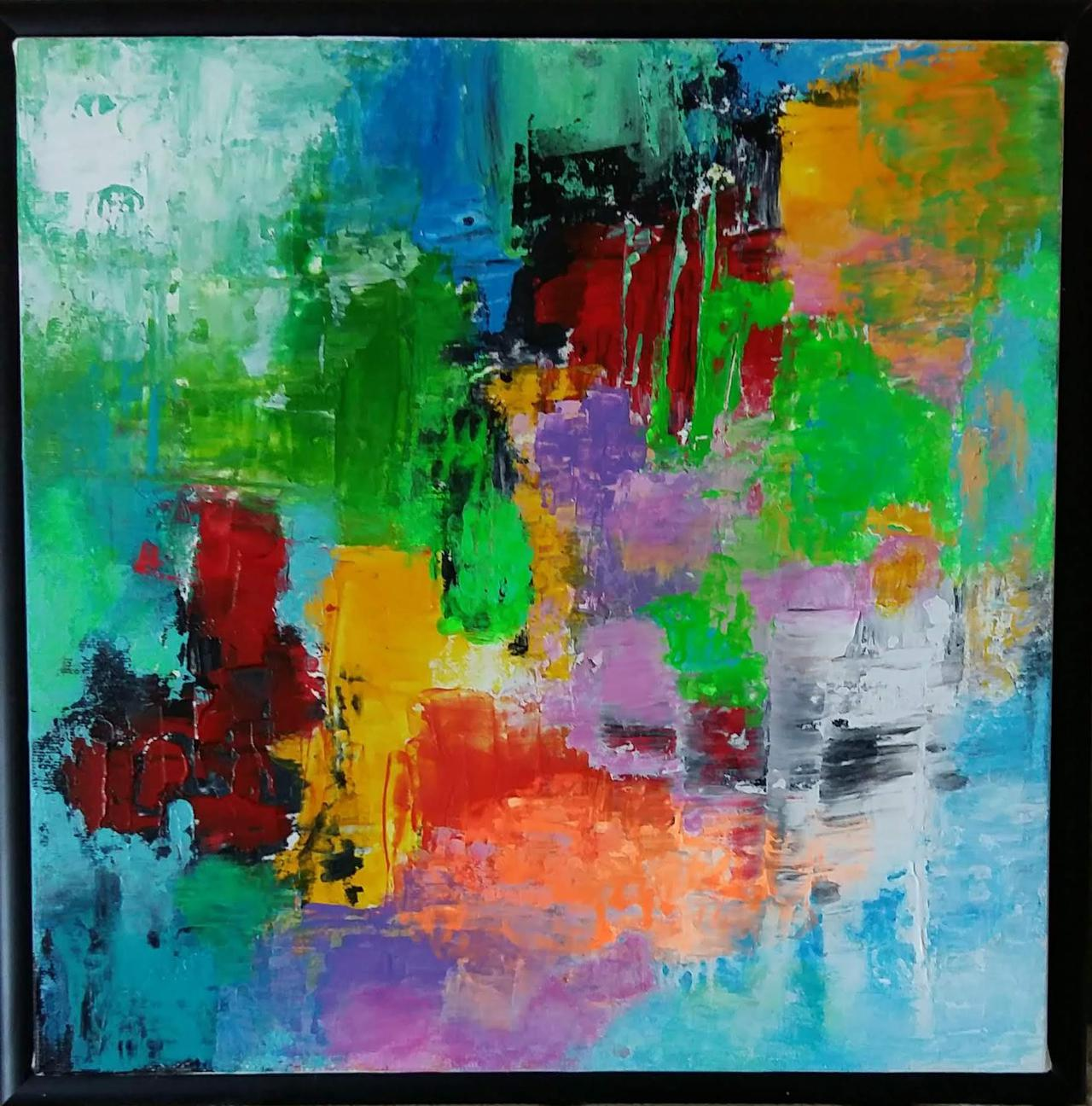 Abstract painting by a Vancouver-based artist.