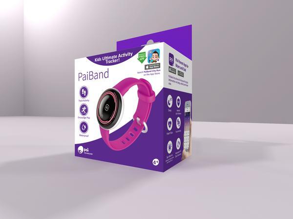 PaiBand Kids Activity Tracker - Pink