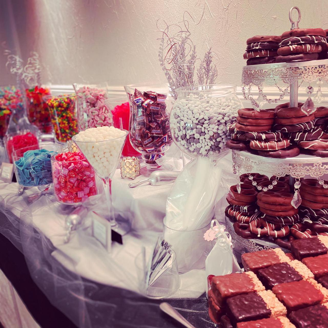 candy table for an event
