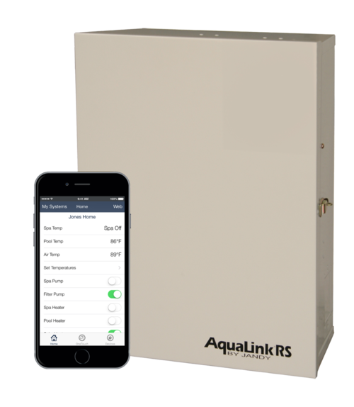 Jandy Aqualink pool automation with web connect puts your