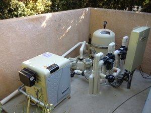 Heater, pump, filter, valves, plumbing, salt system, automation