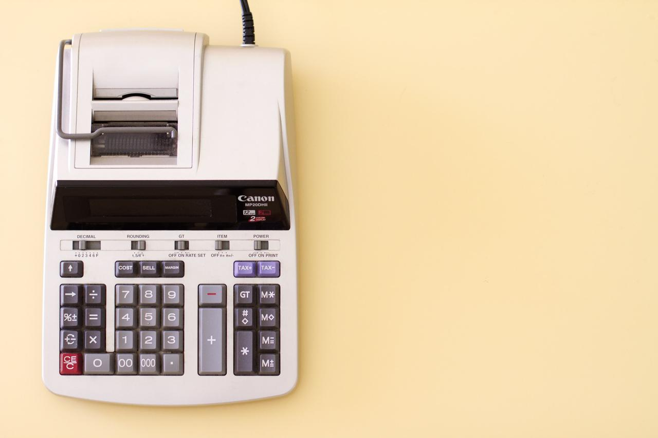 accounting calculator used by small business tax preparer in toronto