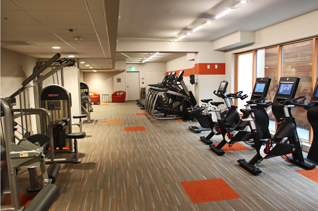 A photo of our state of the art gym in one of our fully furnished los angeles apartments.