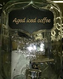 One gal. Aged cold brewed Coffee