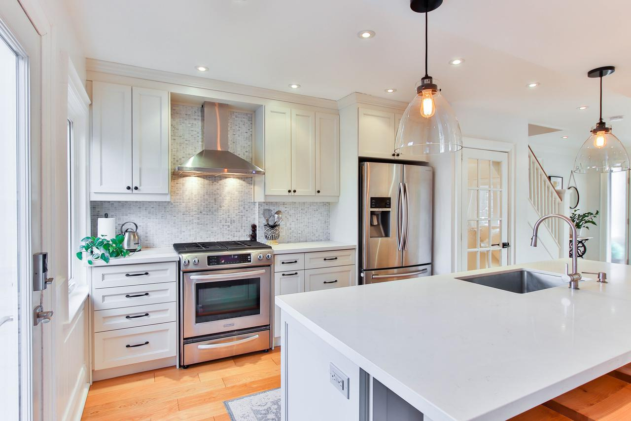 This is a picture of a kitchen built by kitchen remodel contractors in Rockaway NJ.