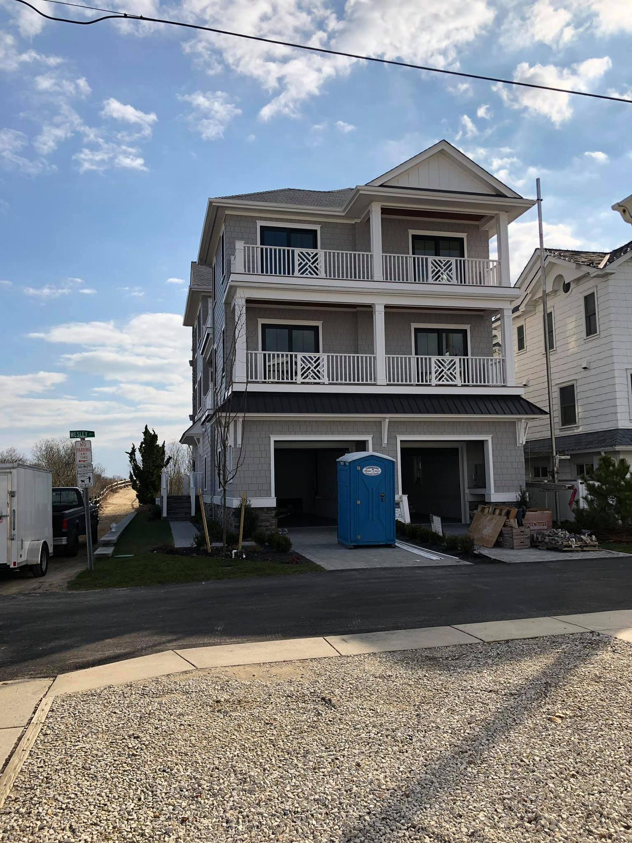 example of concrete work on a three story home by We Coat Concrete