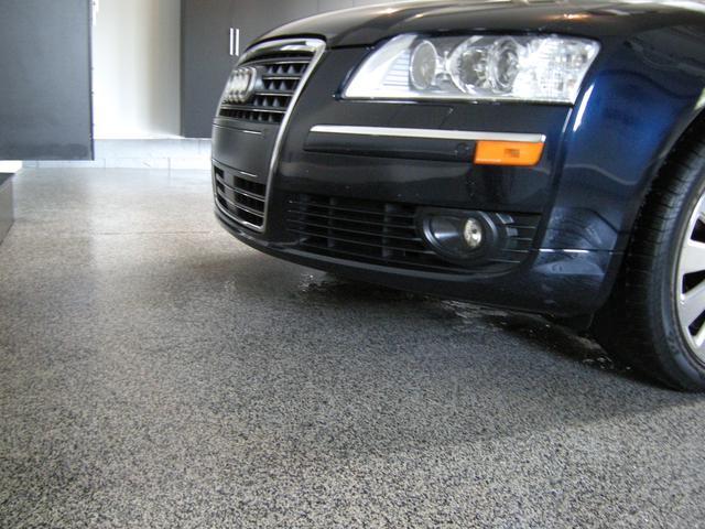 audi car on garage floor