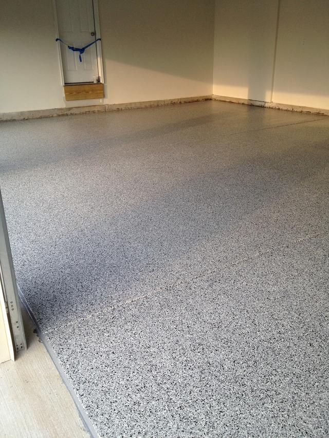 garage floor system done by We Coat Concrete