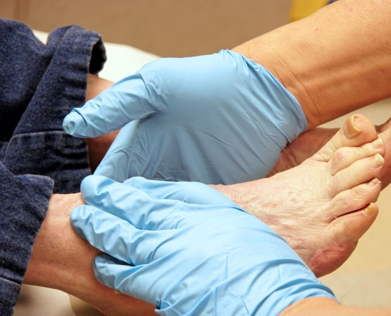 physical exam performed with safety gloves