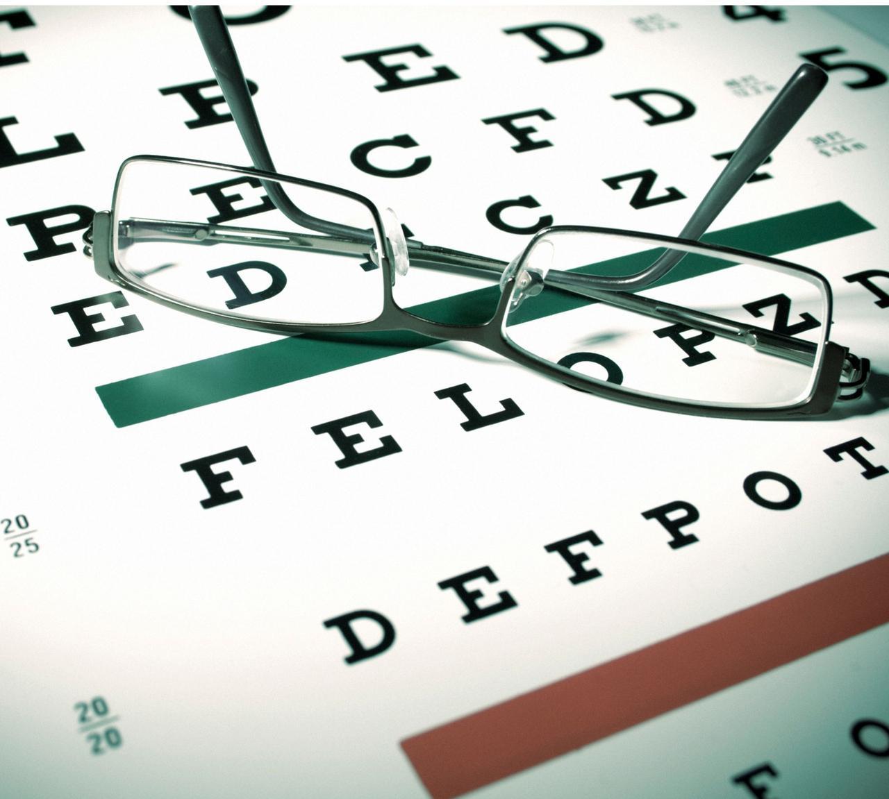 eye exam and glasses