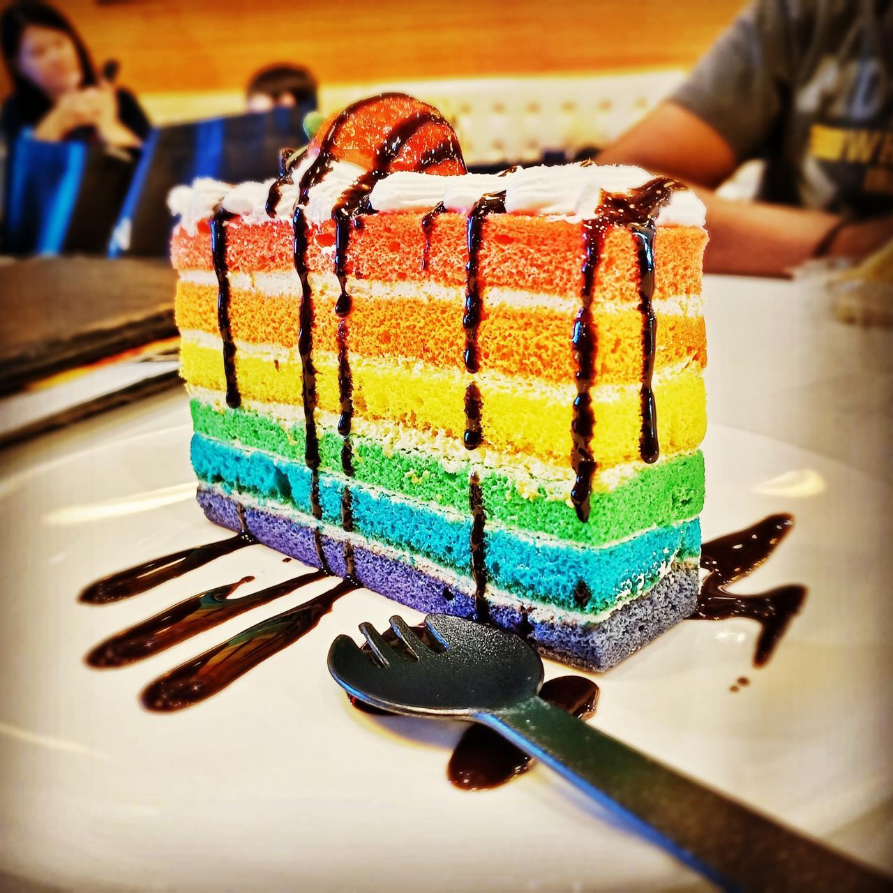 Rainbow cake taken by using vivo v15