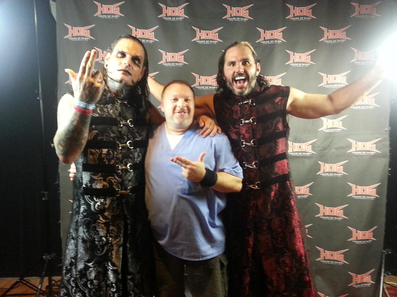 Jeff & Matt Hardy with Jim