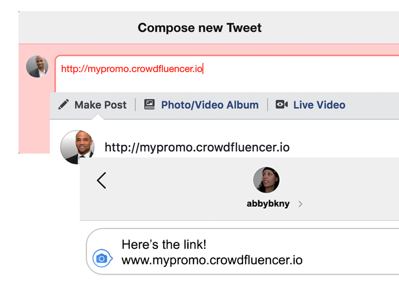 Step 2: Promote the campaign link.