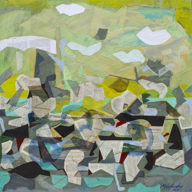 Lake Effect - mixed media art piece by Matt Kaplinsky 36x36