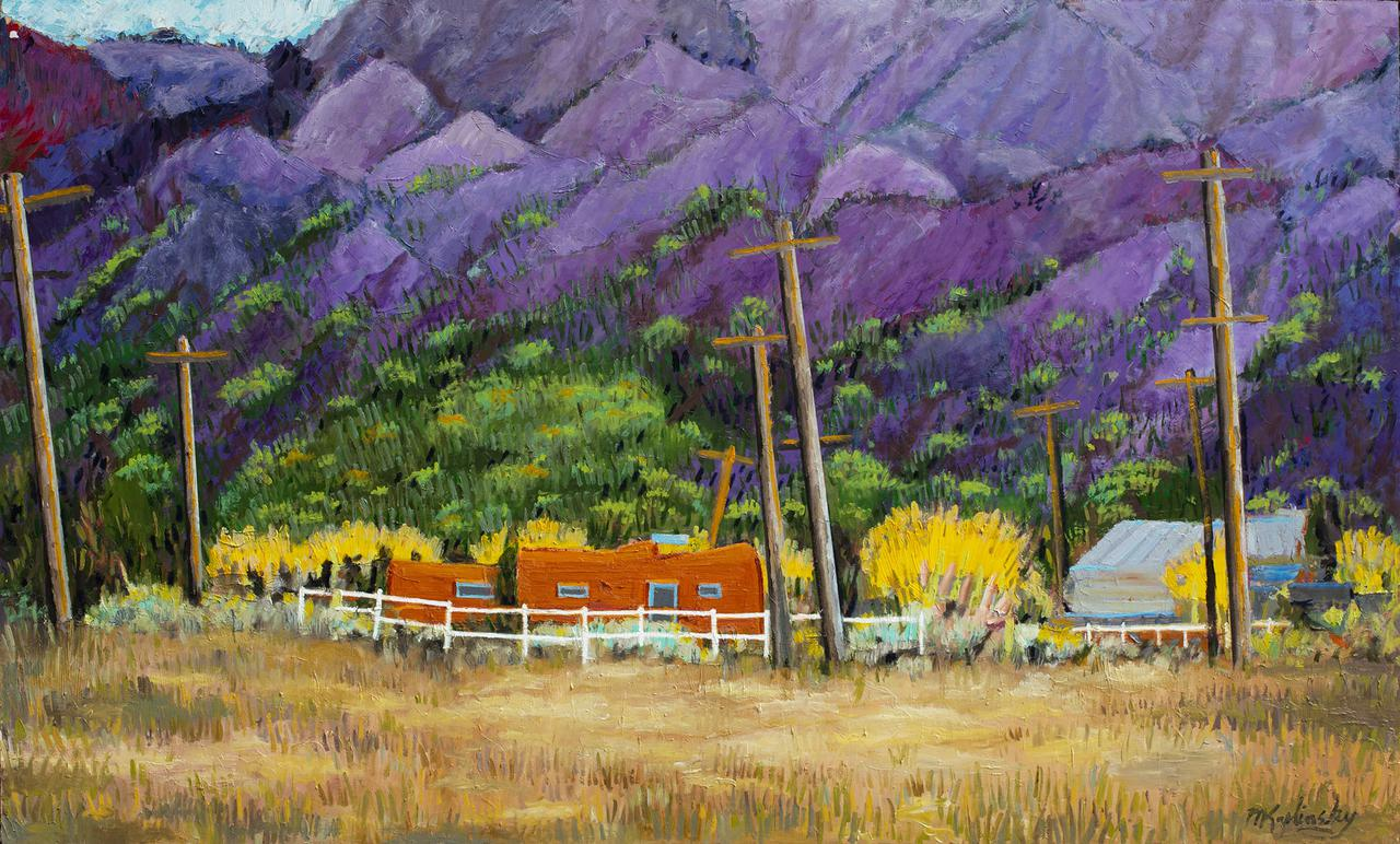 Sunset at Taos Moutain 29x48 inches oil on board by Matt Kaplinsky.jpg