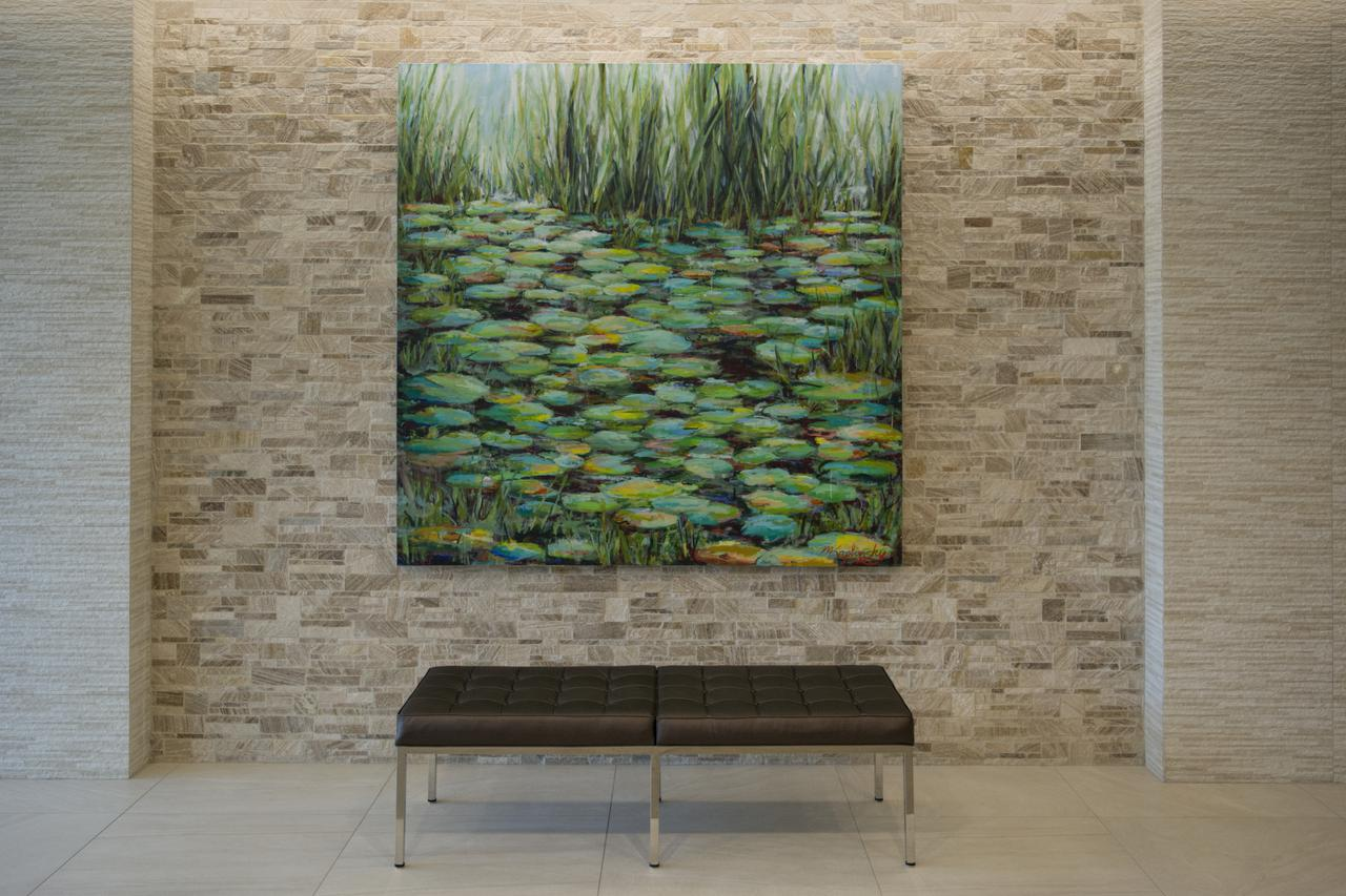 Great Pond _ 72x72 inches acrylics on canvas by Matt Kaplinsky