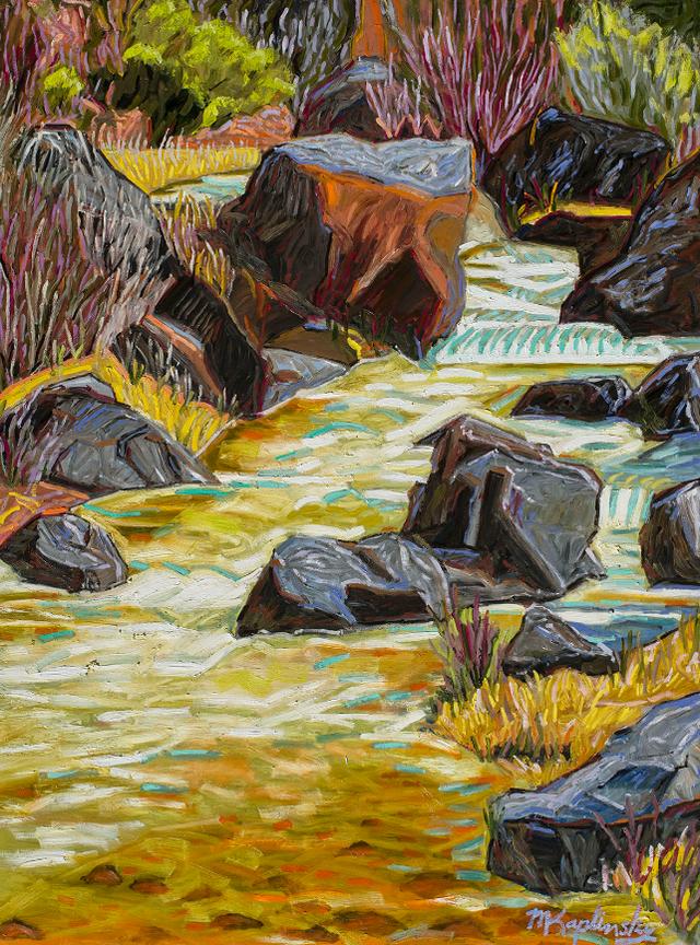 portfolio/Early Spring Stream, New Mexico - 36x48 oil on board by Matt Kaplinsky.jpg