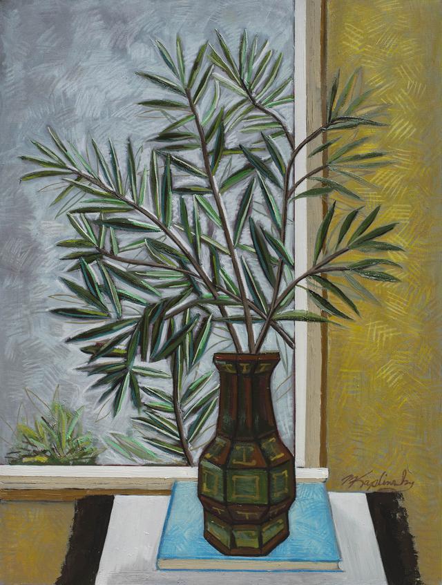 portfolio/Antique Vase with Side Yard Oleander - 36x48 oil on canvas by Matt Kaplinsky.jpg