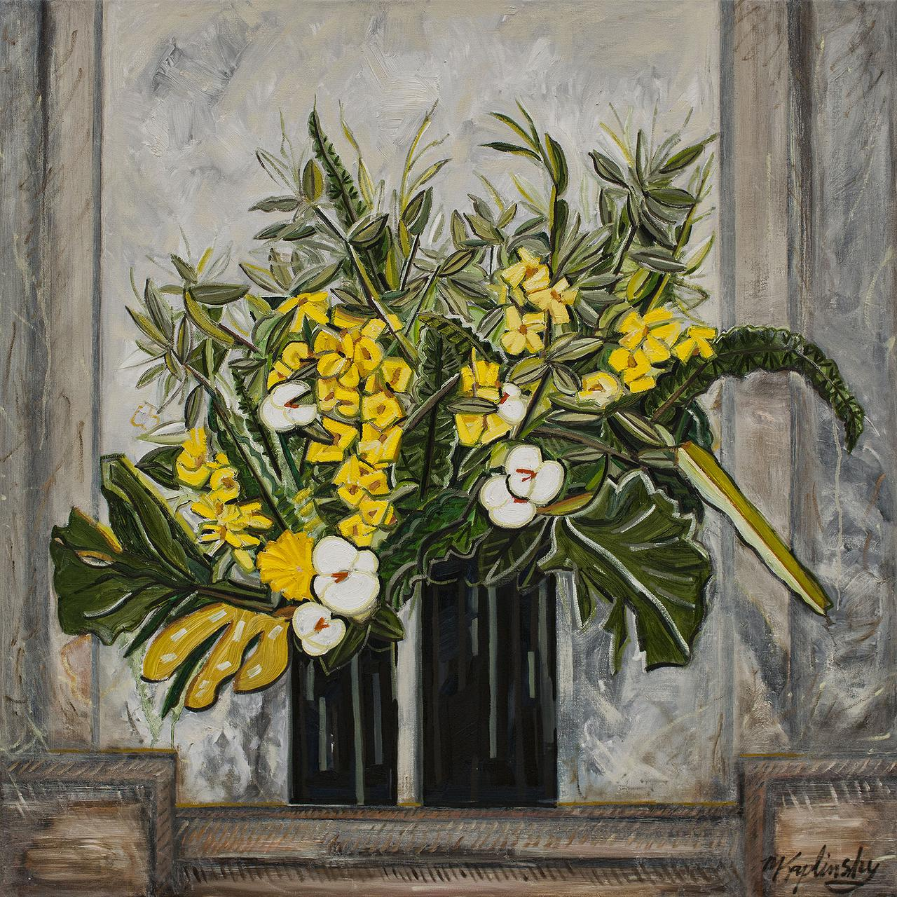 portfolio/Hotel Lobby Arrangement - 48x48 oil on canvas by Matt Kaplinsky.jpg