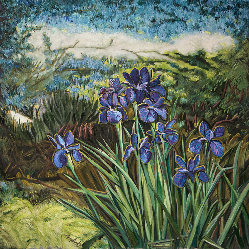 portfolio/Irises under the Atlas Cedar - 62x72 oil on canvas by Matt Kaplinsky.jpg