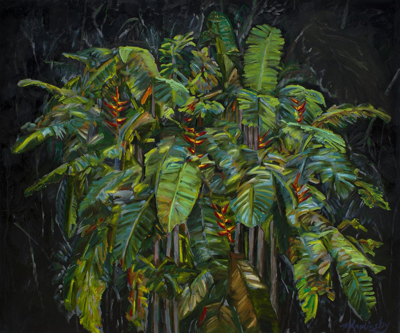 Night Plant oil on canvas by artist Matt Kaplinsky 60x72