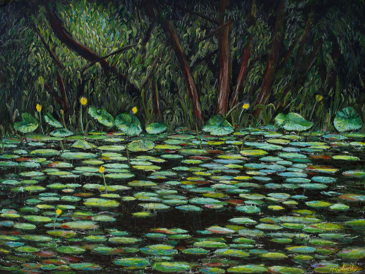 portfolio/Lotus Pond at Dusk - 72x96 Acrylic on canvas by Matt Kaplinsky.jpg