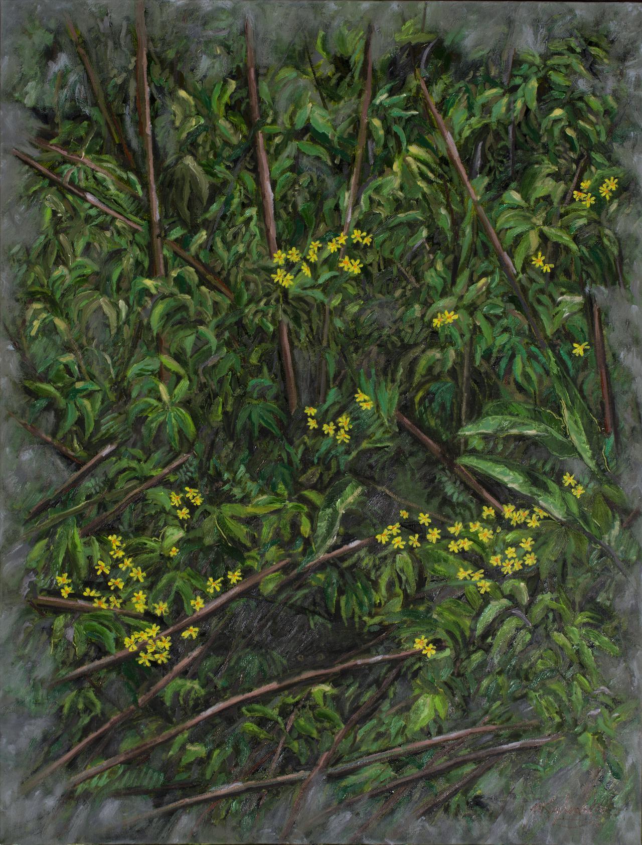 Ditch Weeds - 36x48 oil on canvas by Matt Kaplinsky