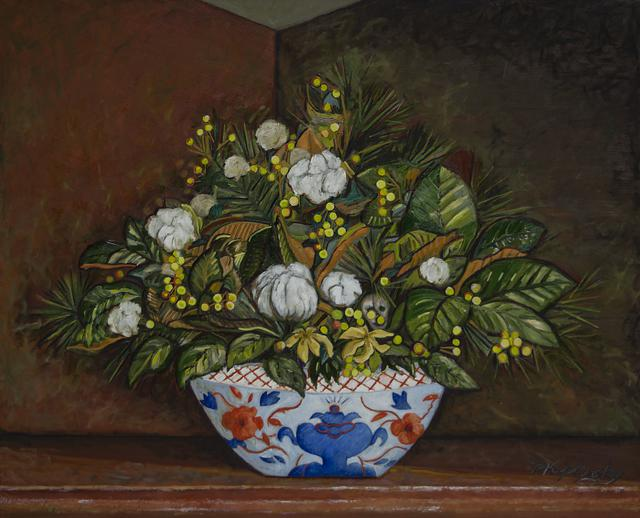 Colonial Arrangement oil on canvas still life art piece by Matt Kaplinsky 60x72